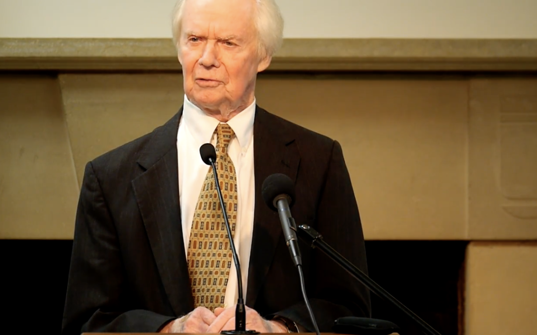 Dr. Glenn Hinson Honored at Oates Institute Awards Banquet